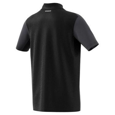 adidas Boys Club Tennis Polo Shirt Black/Grey Six/White H45415