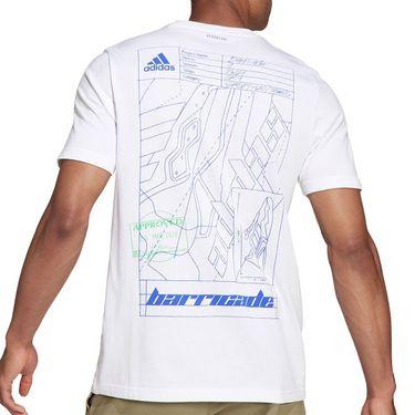 adidas Tennis Graphic Logo Tee Shirt Mens White H48966