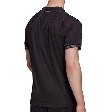 adidas Tennis Freelift Primeblue Tee Shirt Mens Black H50265