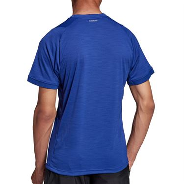 adidas Tennis Freelift Tee Shirt Mens Victory Blue/White H50277