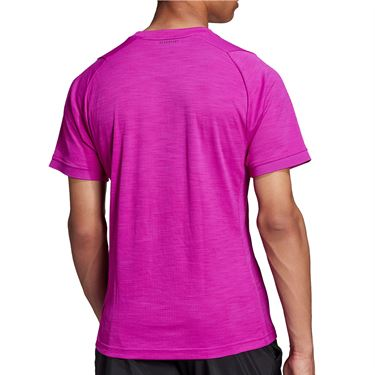 adidas Tennis Freelift Tee Shirt Mens Sonic Fuchsia/Black H50279