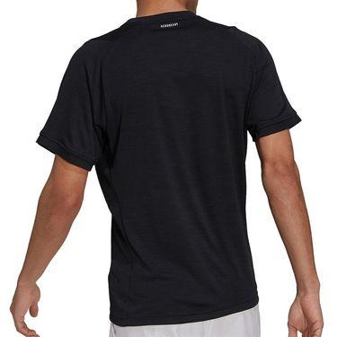 adidas Tennis Freelift Tee Shirt Mens Black/White H50280