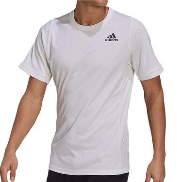 adidas Tennis Freelift Tee Shirt Mens White/Black H50281