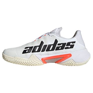 adidas Barricade Womens Tennis Shoe White/Core Black/Solar Red H67701