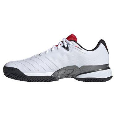 Adidas Barricade Mens Tennis Shoe White/Black/Red H67703