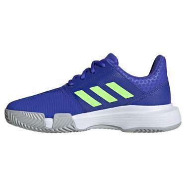 adidas Court Jam Junior Tennis Shoe Sonic Ink/Signal Green/White H68132