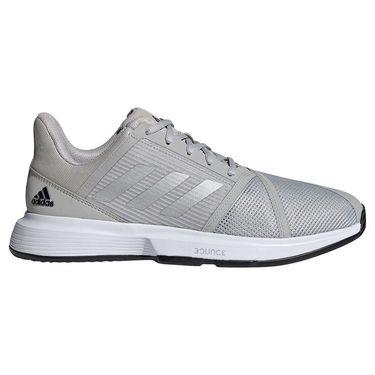 adidas Court Jam Bounce Mens Tennis Shoe Grey Two/Silver Metallic/Core Black H68894