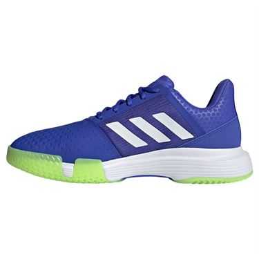 adidas Court Jam Bounce Mens Tennis Shoe Sonic Ink/White/Signal Green H68895