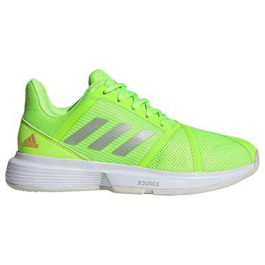 adidas Court Jam Bounce Womens Tennis Shoe Signal Green/Silver Metallic/White H69194