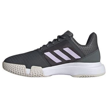 adidas Court Jam Bounce Womens Tennis Shoe Grey Six/Purple Tint/White H69195