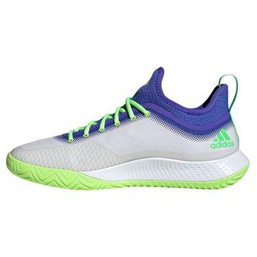adidas Defiant Generation Mens Tennis Shoe White/Screaming Green/Signal Green H69202