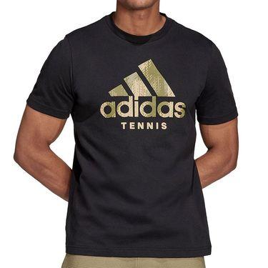 adidas Tennis Graphic Logo Tee Shirt Mens Black HB2744