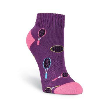 K-Bell Sports Colorful Tennis Rackets Low Cut Sock - Purple