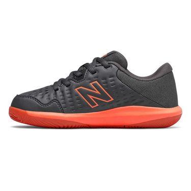 New Balance 696v4 Junior Tennis Shoe - Black/Red