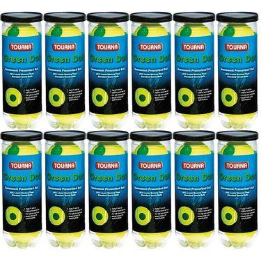 Tourna Pressurized Green Dot Tennis Balls (12 pack)