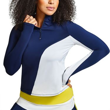 Eleven Retro Ace Long Sleeve Top Womens Admiral Navy LS202 415