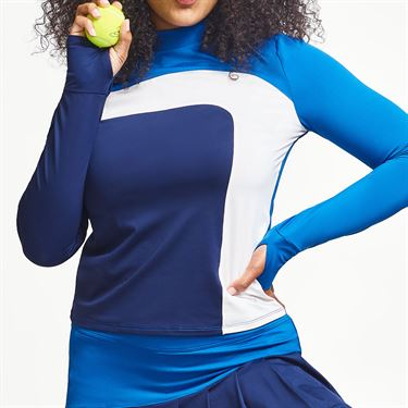 Eleven Legacy Off To The Races Long Sleeve Top Womens Electric Blue LS248 431