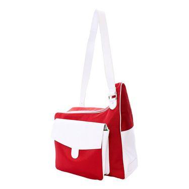 Cortiglia Messenger Tennis Bag Red/White