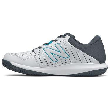 New Balance 696v4 (D) Mens Tennis Shoe - White/Black/Red