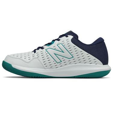 New Balance 696v4 (D) Mens Tennis Shoe - White/Navy/Teal