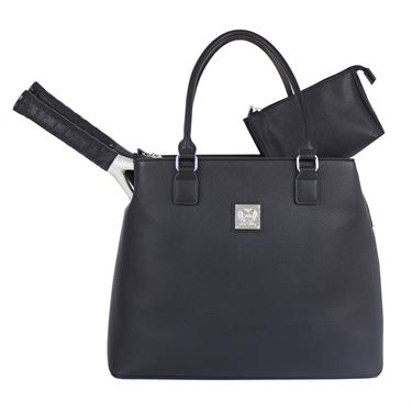 Court Couture Monte Carlo Tennis Bag - Black