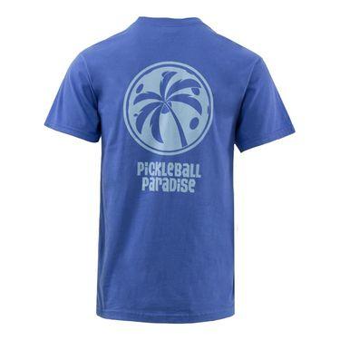 Pickleball Paradise Palm Tree Tee - Flo Blue