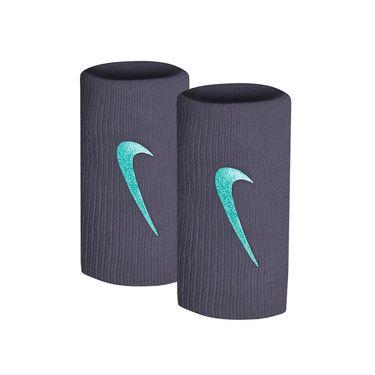 Nike Tennis Premier Doublewide Wristbands - Gridiron/Cabana