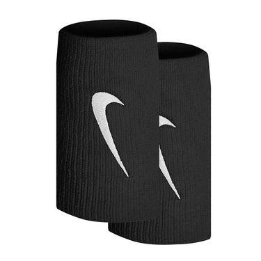 Nike Tennis Premier Doublewide Wristbands - Black/Metallic Silver