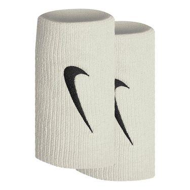 Nike Tennis Premier Doublewide Wristbands - Milk/Black
