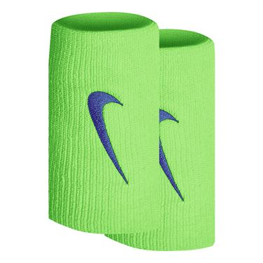 Nike Tennis Premier Doublewide Wristbands - Lime Glow/Hyper Royal