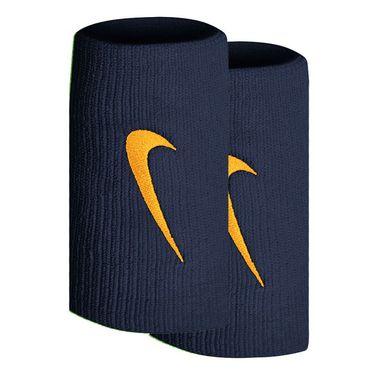 Nike Tennis Premier Doublewide Wristbands - Binary Blue/Laser Orange