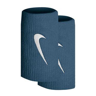 Nike Tennis Premier Doublewide Wristbands - Rift Blue/White