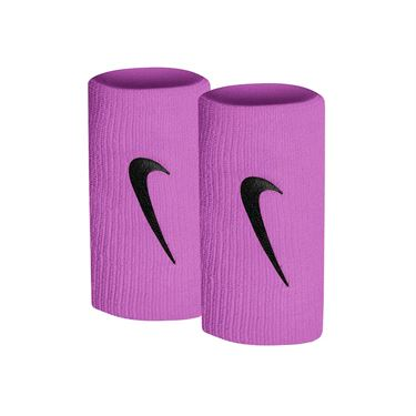 Nike Tennis Premier Doublewide Wristbands - Bright Violet/Black