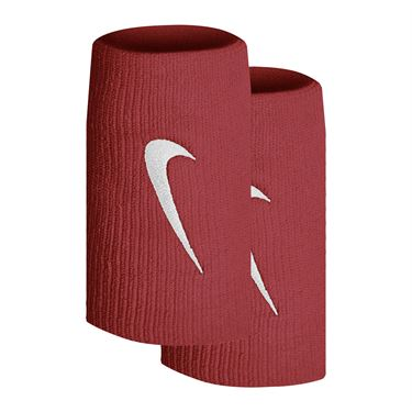 Nike Tennis Premier Doublewide Wristbands - Cinnabar/White