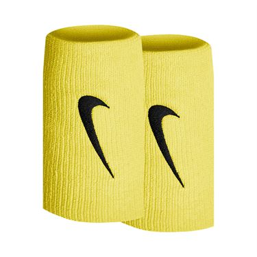 Nike Tennis Premier Doublewide Wristbands - Speed Yellow/Black