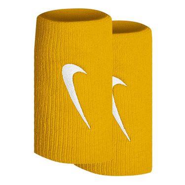 Nike Tennis Premier Doublewide Wristbands - University Gold/White