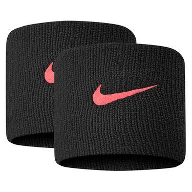 Nike Tennis Premier Wristbands - Black/Crimson Red