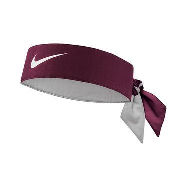 Nike Tennis Headband - Dark Beetroot/White