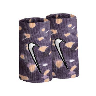 Nike Tennis Graphic Premier Doublewide Wristbands - Gridiron/White Onyx