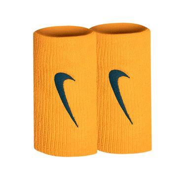 Nike Tennis Premier DW Wristbands - Orange Peel/Midnight Spruce