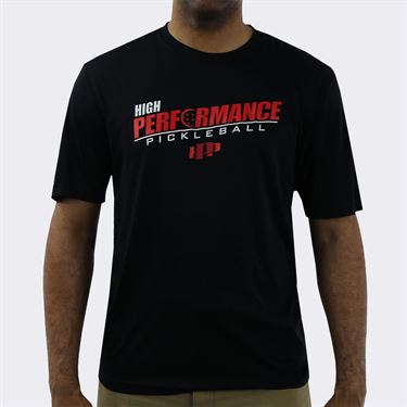 Pickleball Rocks High Performance Crew - Black/Red