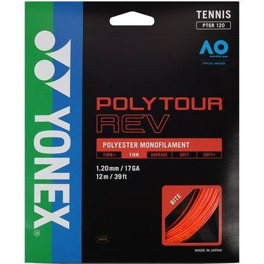 Yonex Poly Tour Rev 120 17G Tennis String - Bright Orange
