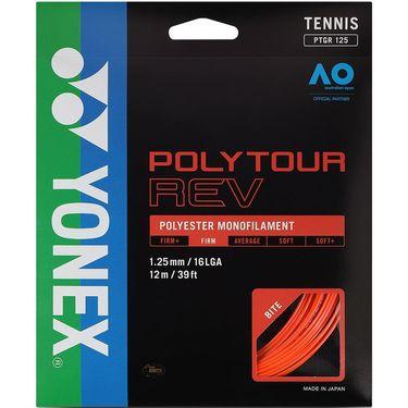 Yonex Poly Tour Rev 125 16L Tennis String - Bright Orange