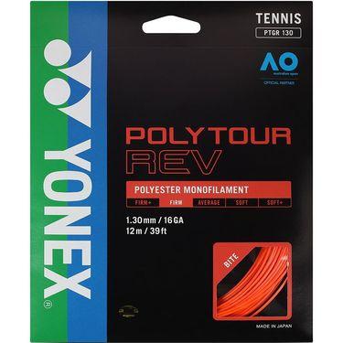 Yonex Poly Tour Rev 130 16G Tennis String - Bright Orange