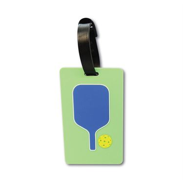 Racquet Inc Bag Tags Pickleball Paddle - Blue/Green/Yellow