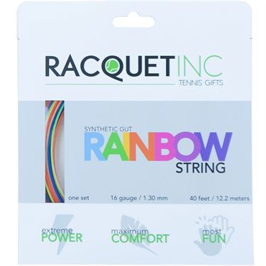 Racquet Inc Synthetic Gut 16G Tennis String - Rainbow