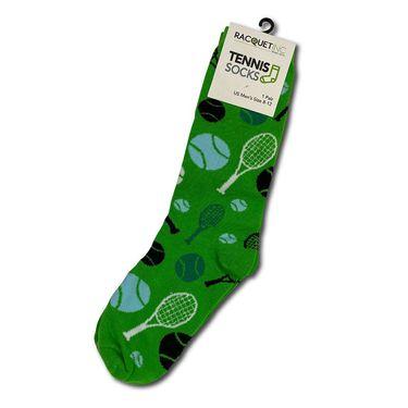 Racquet Inc Novelty Socks - Green/Blue/White