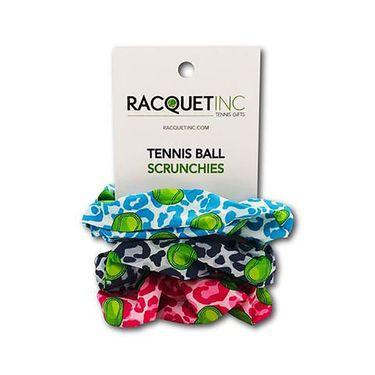 Racquet Inc Tennis Ball Scrunchies - Cheetah Blue/Grey/Pink