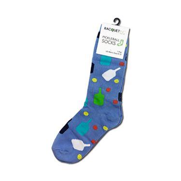 Racquet Inc Pickleball Socks - LT Blue/Green/Black