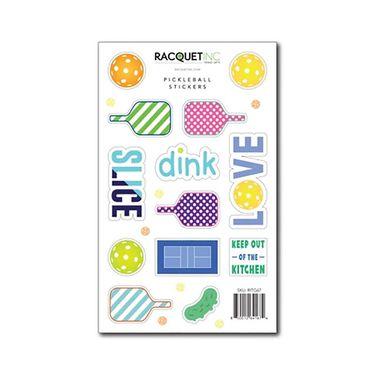 Racquet Inc Pickleball Stickers - Orange